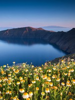 Греция. Санторини. Amazing view of Santorini Cliffs. Фото Ben Goode - Depositphotos
