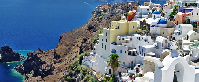 Греция. Санторини. Beautiful Santorini. Фото Maugli - Depositphotos