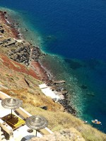 Греция. Санторини. The blue lagoon in Santorini. Фото Galyna Gumenyuk-Olszak - Depositphotos
