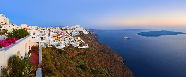 Греция. Санторини. Santorini sunset - Greece. Фото Nikolai Sorokin - Depositphotos