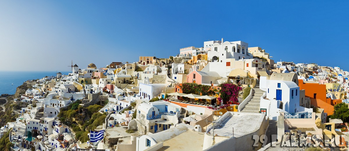 Греция. Санторини. Santorini view (Oia), Greece. Фото Violin - Depositphotos