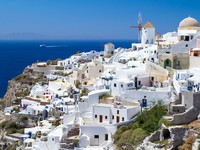 Греция. Санторини. Oia village on Santorini island. Фото Patryk Kosmider - Depositphotos