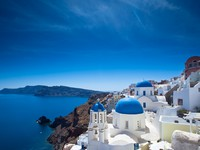 Греция. Санторини. Santorini Churches. Фото Ben Goode - Depositphotos