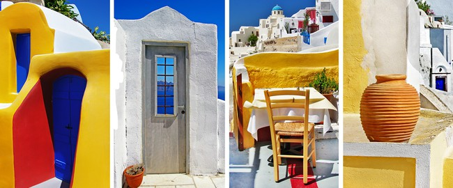 Греция. Санторини. Santorini - travel in Greek islands. Фото Maugli - Depositphotos