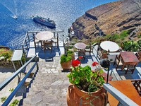 Греция. Санторини. Greek holidays - Santorini. Фото Maugli - Depositphotos