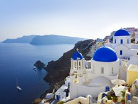 Греция. Санторини. Santorini church (Oia), Greece. Фото Nikolai Sorokin - Depositphotos