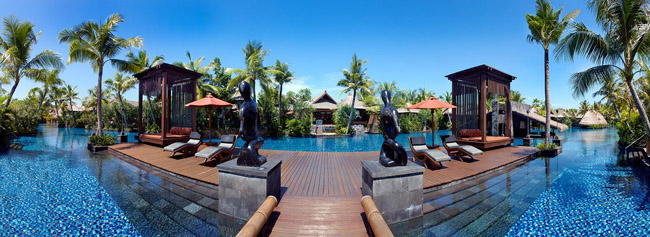 Клуб путешествий Павла Аксенова. Индонезия. Бали.The St. Regis. Jacob's Deck Fish Eye View