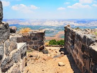 Израиль. View To Jordan Valley From Ruins Of The Crusader Fortress Belvoir. Фото George Kuna - Depositphotos