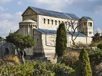 Израиль. Model Of The Transfiguration Of Christ Church, Mount Tabor, Israel. Фото Vladimir Khirman - Depositphotos
