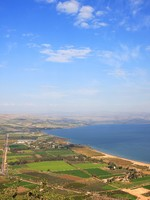 Израиль. View of the sea of Galilee (Kineret lake) from Arbel mountain, Israel. Фото Eva Chafarnski - Depositphotos