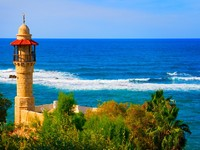 Израиль. Тель-Авив. Landscape colorful view from Tel Aviv coastline, Israel. Фото Daniel Dunca - Depositphotos