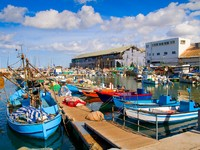 Израиль. Тель-Авив. Lots of boats in picturesque port of Tel Aviv, Israel. Фото Daniel Dunca - Depositphotos