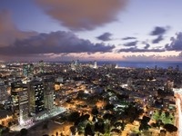 Израиль. Тель-Авив. Night city, Tel Aviv at sunset, Israel. Фото Dmitry Pistrov - Depositphotos