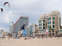 Израиль. Тель-Авив. The beach of Tel Aviv, Israel. Vasily Firsov - Depositphotos
