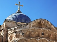 Израиль.Dome on the Church of the Holy Sepulchre in Jerusalem, Israel. Фото konstantin32 - Depositphotos