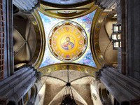 Greek orthodox part of the Church of the Holy Sepulchre, Jerusalem. Фото Roman Sigaev - Depositphotosl