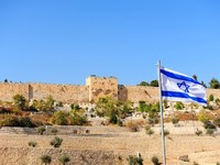 Израиль. View from the Kidron Valley on the Walls  of Jerusalem. Фото George Kuna - Depositphotos