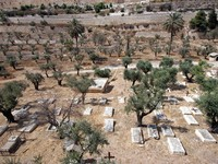 Израиль. Christian cemetery on the Mount of Olives, in Jerusalem. Фото Zvonimir Atletic - Depositphotos