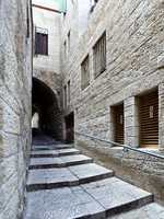 Израиль. Иерусалим. Narrow side street at  of Jerusalem, Israel. Фото Roman Sigaev - Depositphotos