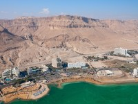 Израиль. Мертвое море. Birdseye view of the Ein Bokek resort, Israel. Фото Vasily Firsov - Depositphotos