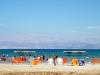 Израиль. Beach of the Dead Sea in Ein Gedi, Israel. Фото Emanuel Kaplinsky - Depositphotos