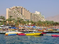 Израиль. Эйлат. View of East beach of Eilat. Israel. Фото Oleg Zaslavsky - Depositphotos