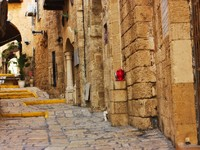 Израиль. Тель-Авив-Яффа. View of an Old Jaffa street, Israel. Фото  vladi79 Depositphotos
