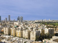 Израиль. Тель-Авив. Panorama  of Tel Aviv from city of Ramat Gan. Фото Ludmila Peker Depositphotos