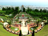 Израиль. Хайфа. A beautiful view of the Bahai Gardens in Haifa Israel. Фото Tatiana Belova - Depositphotos