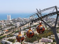 Израиль. Хайфа. Cable car in Haifa. Фото WDG Photo Depositphotos