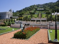 Израиль. Хайфа. Beautiful Baha'i Gardens in Haifa, Israel. Фото Antonio Ribeiro - Depositphotos