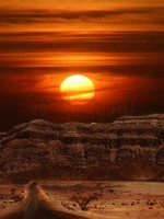 Израиль. Sunset over the mountains of Arava desert in Israel. Фото Rostislav Glinsky - Depositphotos