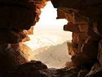 Израиль. Ancient stone window of Masada fortress in Israel. Фото Alexander Sviridov - Depositphotos