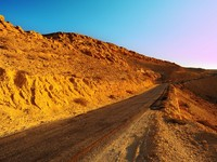 Израиль. Lonely Road In The Negev Desert, Sunset. Фото George Kuna - Depositphotos