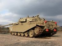 Израиль. Army tank at the Golan Heights, Israel. Фото Eva Chafarnski - Depositphotos
