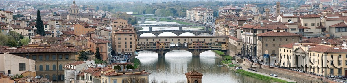 Италия. Флоренция.Panoramic View of Florence from the Hill of Piazzale Michelangelo. Фото jovannig - Depositphotos