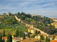 Италия. Флоренция. View on old city wall, Tuscan, Florence. Фото Valery Voennyy - Depositphotos