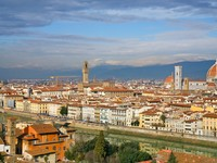 Италия. Флоренция.  View on Florence from from Michelangelo Park. Фото Valery Voennyy - Depositphotos