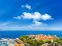 Лазурный Берег. Монако. Panoramic view of Monaco with palace and harbor. Фото Liliana Fichter - Depositphotos