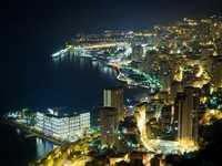 Монако. Монте Карло. Aerial view of Monaco, Monte Carlo by night. Фото Ioan Panaite - Depositphotos