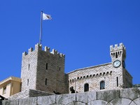Монако. Монте Карло. Towers and wall of the palace in Monaco. Фото Alexander Lebedev - Depositphotos