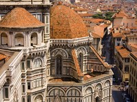 Италия. Флоренция. Florence view from Cathedral tower in Italy. Фото Natalia Zakowska - Depositphotos