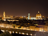 Италия. Флоренция. Night view to Florence skyline, Tuscany, Italy. Фото vitalytitov Depositphotos