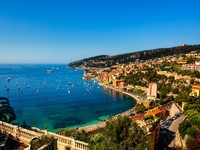 Французская Ривьера. Villefranche sur mer on the french riviera france cote d'azur. Фото STYLEPICS - Depositphotos