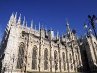 Италия. Милан. Gothic Architecture of Milan cathedral. Фото zhijie zhuang - Depositphotos