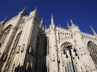 Италия. Милан. Architecture of Milan cathedral. Фото zhijie zhuang - Depositphotos