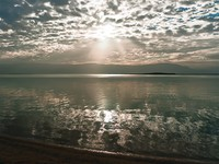 Иордания. Мертвое море. Jordan. Dead Sea. Sunrise over the Dead Sea. Фото Winston - Depositphotos