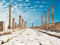 Иордания. Джераш. Ancient Jerash. Ruins of the Greco-Roman city of Gera at Jordan. Фото Wojciech Wojcik - Depositphotos