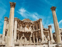 Иордания. Джераш. Ancient Jerash. Ruins of the Greco-Roman city of Gera at Jordan. Фото waj197 - Depositphotos
