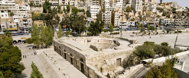 Иордания. Амман. Small Roman amphitheater in Amman, Jordan. Фото Dario Bajurin - Depositphotos